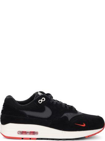 Nike Air Max 1 Premium Black Suede And Fabric Sneaker