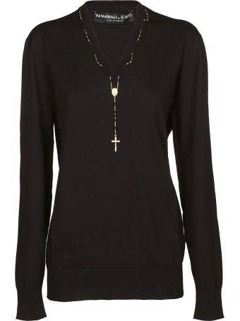 Dolce & Gabbana Rosary Detail Jumper