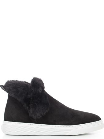 Hogan Fur Trim Slip-on Sneakers