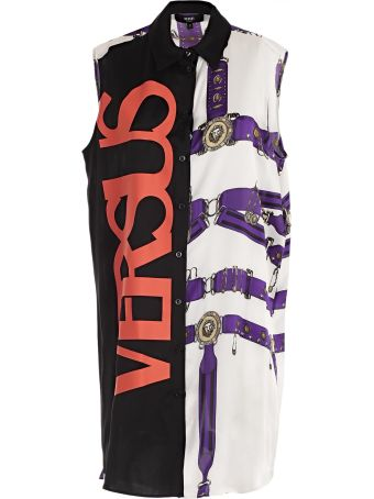 Versus Versace Printed Sleeveless Dress