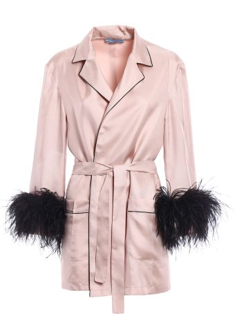 Prada Twill Silk Piping Robe