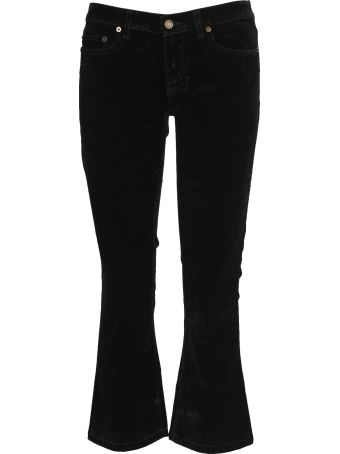 Saint Laurent Paris Pantalone Velluto Crop