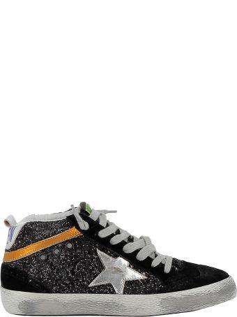 Golden Goose Black/silver Glitter Sneakers