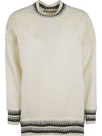 Ermanno Scervino Floral Lace Detailed Sweater