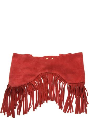 Jacquemus Red Fringed Suede Belt