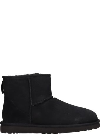 UGG Mini Classic Black Suede Boots