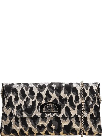 Christian Louboutin Black And Silver Vero Dodat Clutch Bag