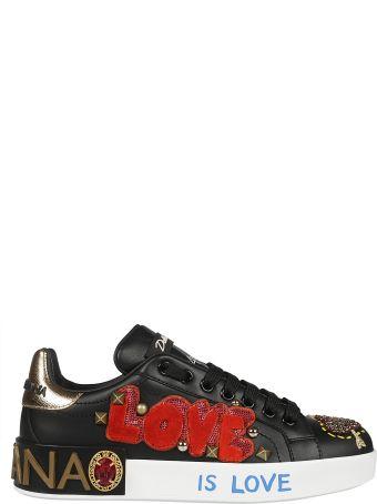 Dolce & Gabbana Applique Low Top Sneakers