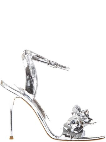 Sophia Webster Lilico Silver Leather Sandals