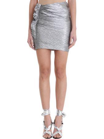 IRO Frius Silver Metal Viscose Skirt