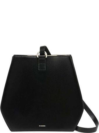 Jil Sander Lyre Md Smooth-leather Shoulder Bag