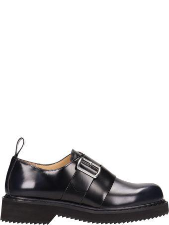 Jil Sander Navy Black Leather Loafers