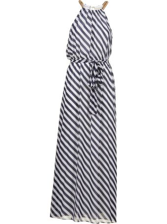 Michael Michael Kors Chain Detail Halterneck Dress