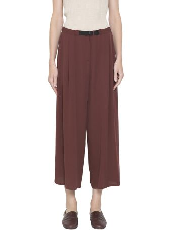 Dusan Silk Crepe Cropped Pants