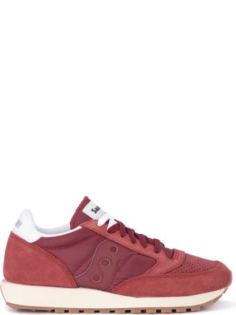 Saucony Jazz Vintage Suede, Fabric And Red Leather Sneaker
