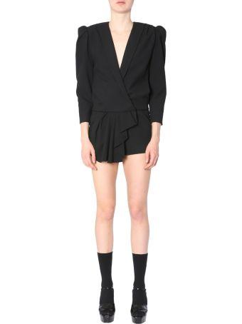 Saint Laurent Short Overall Sable Coat