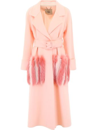Fendi Wool Coat With Fur