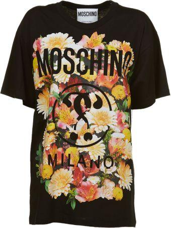 Moschino Floral Print Logo T-shirt