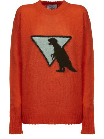 Prada Knitted Printed Sweater