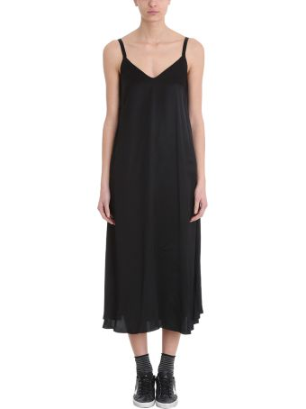 Golden Goose Marpesia Black Satin Slip Dress