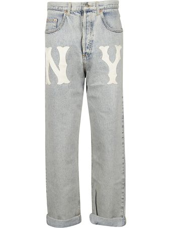 Gucci Printed Mid Rise Jeans