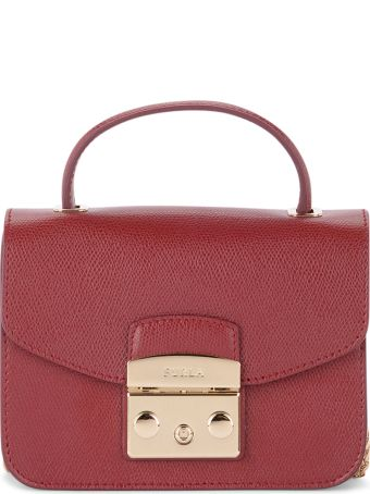 Furla Metropolis Mini Cherry Leather Shoulder Bag