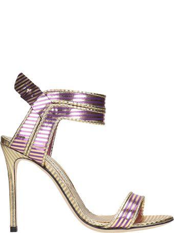 Marskinryyppy Mirror Winona Gold Purple Sandals