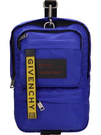Givenchy Blue Bylon Shoulder Bag