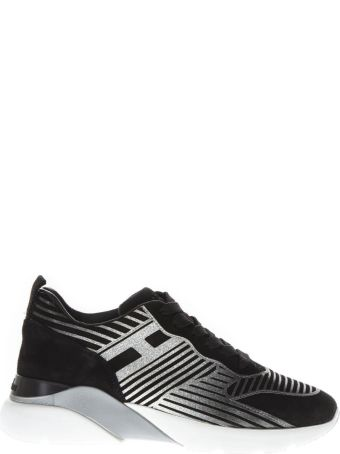 Hogan Active One Black Suede Oversized Sneakers