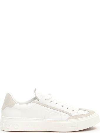 Salvatore Ferragamo Leather And Suede Borg Sneakers