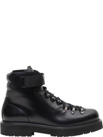 Valentino Garavani Vltn Leather Combat Boots