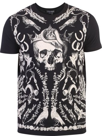 Alexander McQueen Black Skull Print T-shirt