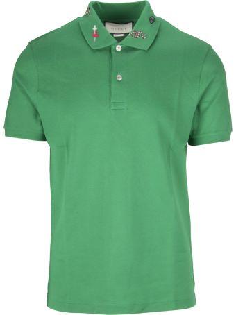 Gucci Embroidered Piqué Polo Shirt