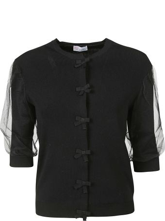 Red Valentino Short Sleeves Cardigan