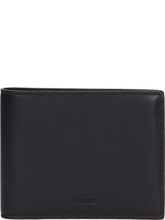 Jil Sander Black Leather Wallet