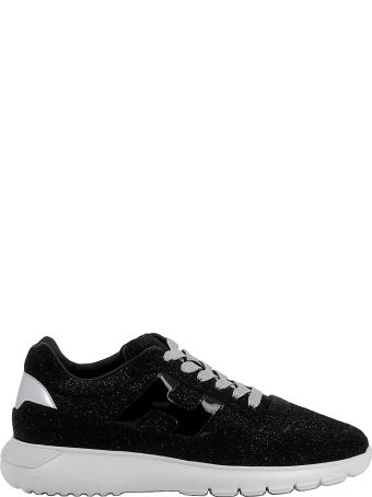 Hogan Black Glitter Sneakers
