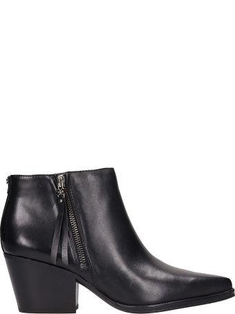 Sam Edelman Walden Black Leather Ankle Boots