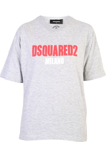 Dsquared2 Grey Branded T-shirt