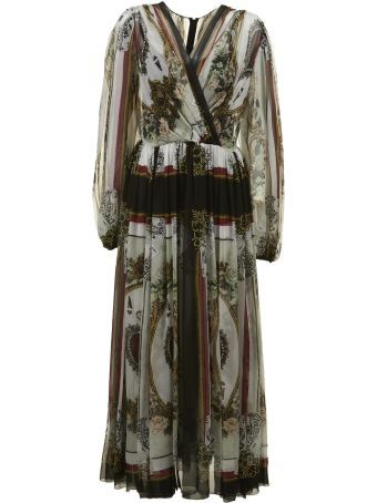 Dolce & Gabbana Draped Printed Dress