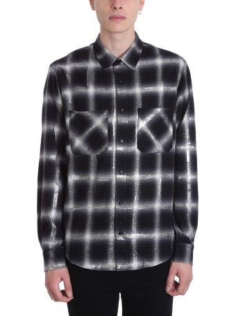 AMIRI Glitter Wool Black/white Shirt