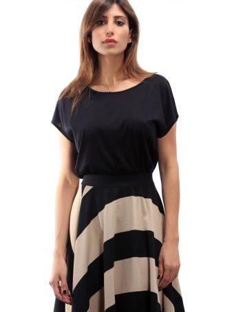 Altalana Cotton And Silk T-shirt 27-jet Set