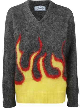 Prada Flame Sweater