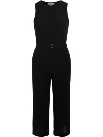 Michael Kors Michael Kor Black Sleeveless Jumpsuit With Wide Trousers