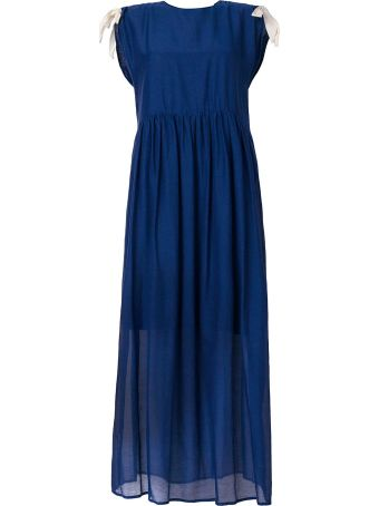 SEMICOUTURE Tie Detailed Flared Dress