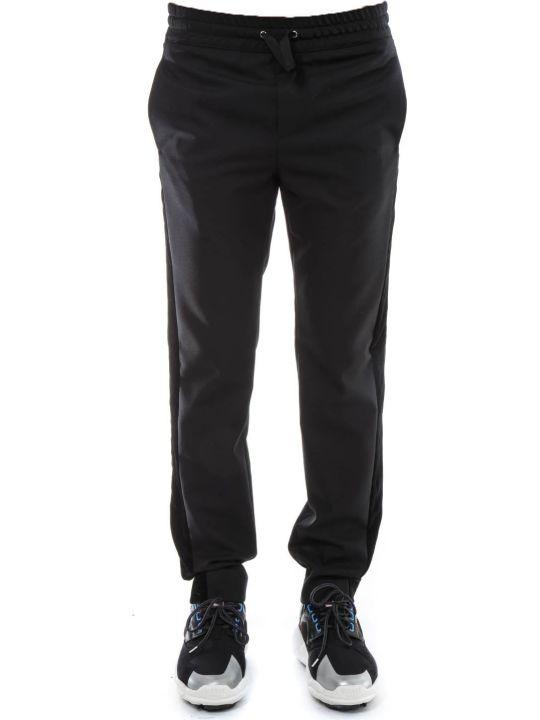 Versus Versace Black Wool Velvet Ribbon Pants