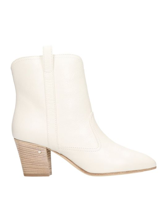 Laurence Dacade Sheryll White Calf Leather Ankle Boots