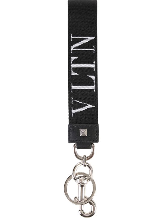 Valentino Garavani Black Branded Key Chain