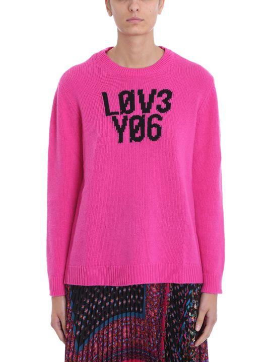 RED Valentino Pink Wool Lov3 Yo6 Sweater
