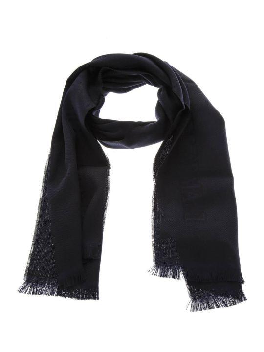 Emporio Armani Dark Blue Wool Scarf