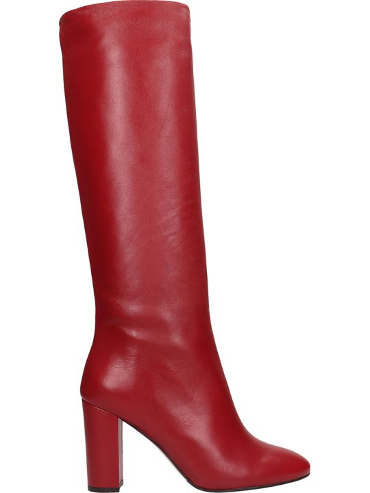 The Seller Red Leather High Boots
